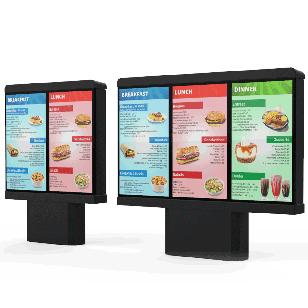 Outdoor Digital Signage Menu Board - Redwood